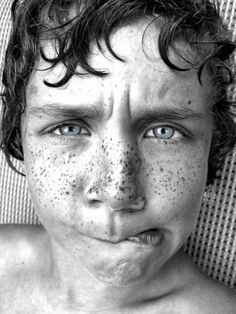 loving the freckles and the facial expression <3