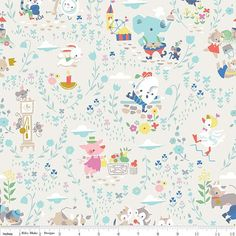 Once Upon A Rhyme Main Cream- Jill Howarth for Riley Blake Designs