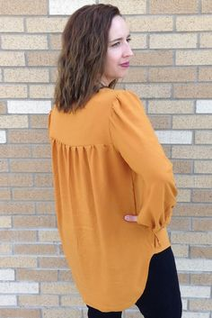 Back view - Valetta Top - Peasant Top Sewing Pattern by Blank Slate Patterns