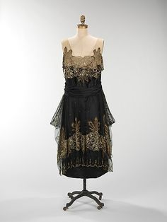 ~Evening dress Date: 1917–20 Culture: American Medium: silk, metal~
