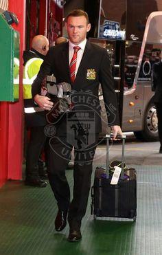 Wayne Rooney arrives at Old Trafford ahead of Man U v Liverpool match.