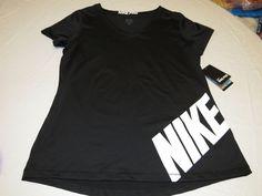 Nike Pro Stay Cool Womens active t shirt XL 666174 010 black training NWT^^ #Nike #ShirtsTops