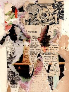 Hannah Hoch - expressive art journal inspiration. i like the fact that this artist has ripped the paper instead of cutting it out carefully. it makes the piece seem child-like and playful.