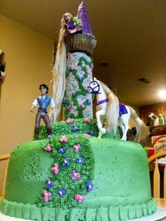 Bakerlady - Rapunzel buttercream cake