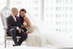 "#janelleandstevetakemiami ""just us"" Photo: Tom Couture Weddings Dress & Veil: Custom Galia Lahav Floral: Rodri Creations Wedding Coordinator: Catalan Productions  #modernbride #modernwedding #miamiwedding #modernluxury #modernluxurymagazine"