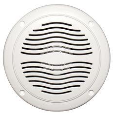 "$29.95 AquaVibe WR40W   Marine Waterproof 5"" Dual Cone Speaker"