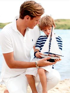 Perfectly preppy Ralph Lauren: DEADDIES & their Baby Boys! /B) Mine was EPiiiiC & I WANNA be the SAME for my Little one one day, TOO!
