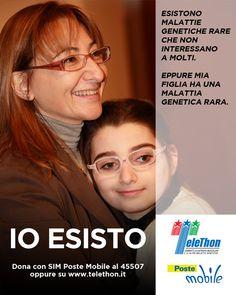 PosteMobile supporta la ricerca contro le malattie genetiche rare. Telethon - IO ESISTO.