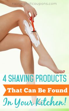 4 DIY Shaving Products That Can Be Found In Your Kitchen!