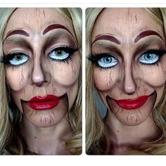 ru_makeup — One from a while ago, creepy! #doll #dead...