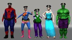 Finger Family Collection - Police Finger Family Spiderman Frozen Elsa Hulk Super Woman Joker Baby