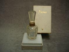 Jacques Heim J aime flacon parfum ancien vintage french perfume bottle