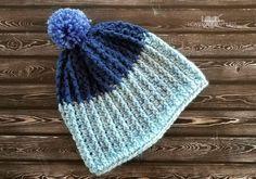 Easy Ribbed Crochet Beanie - Hooked on Homemade Happiness Ribbed Crochet, Crochet Beanie Pattern, Crochet Blanket Patterns, Easy Crochet, Crochet Hooks, Crochet Baby, Free Crochet, Crochet Blankets, Front Post Double Crochet