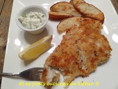 Les plats cuisinés de Esther B: Fish'n chips sans friture Fish And Chips, Sauce Tartare, Esther, Calories, French Toast, Clean Eating, Meat, Chicken, Breakfast