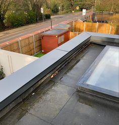 Zinc coping added to this extension in Woodford, Essex. Projects, Log Projects, Blue Prints