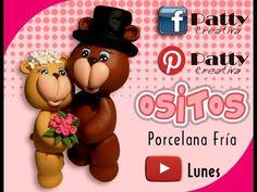 A cute little pair of bears in cold Porcelain /Una linda parejita de osi...