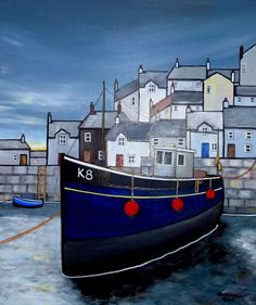 Paul Bursnall - Paintings for Sale Building Painting, Stone Painting, Unique Paintings, Paintings For Sale, Boat Illustration, Primitive Painting, Seaside Art, Naive Art, Art For Art Sake