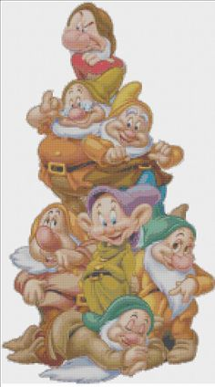Seven Dwarfs PDF Cross Stitch Pattern on Etsy, $5.00