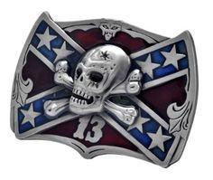 $8...Amazon.com: Buckle Rage Lucky 13 Rebel Flag Belt Buckle