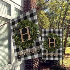 Personalized Flag, Welcome Garden Flags, Welcome House Flag, Farmhouse Garden Flags All Over Printed Rustic Garden Decor, Rustic Gardens, Country Decor, Outdoor Flags, Outdoor Decor, Outdoor Living, Outdoor Life, Garden Poles, Yard Flags