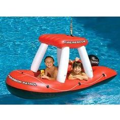 Fireboat Squirter Swimming Pool Float by International Leisure,   SO need this for our pool!