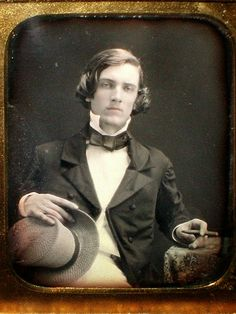 This gentleman looks like he has an intriguing sort of story to tell. c. 1850s.