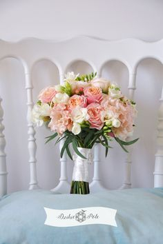 bukiet ślubny brzoskwiniowy  koralowy róże eustoma coral peach wedding bouquet Wedding Bouquets, Table Decorations, Party, Home Decor, Decoration Home, Wedding Brooch Bouquets, Room Decor, Bridal Bouquets, Wedding Bouquet