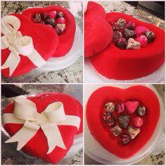 Box of chocolates valentines cake