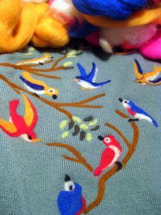 needle felting birds