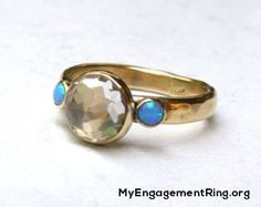 engagement ring 14k gold silver gemstone ring - My Engagement Ring