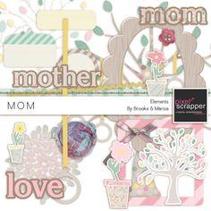 Mom Elements Kit by Collaborations | Pixel Scrapper digital scrapbooking