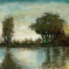 Serene Reflection II Wall Art - Landscape Prints - Canvas Wall Art - Gallery Wrapped Canvas Prints   HomeDecorators.com