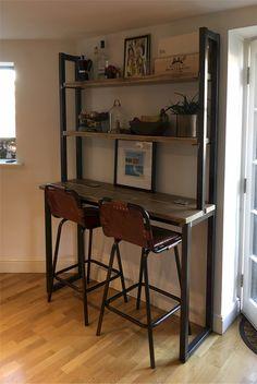 Reclaimed Wood Breakfast Bar Shelving Unit Combo