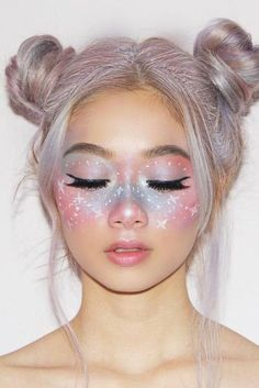 48 Fairy Unicorn Makeup Ideas For Parties 48 Fairy Unicorn Makeup Ideas For Parties,make up 48 Fairy Unicorn Makeup Ideas For Parties Related Creative Makeup Looks You Need To Try - Wedding. Crazy Makeup, Cute Makeup, Gorgeous Makeup, Beauty Makeup, Mask Makeup, Kawaii Makeup, Perfect Makeup, Pretty Makeup, Diy Beauty