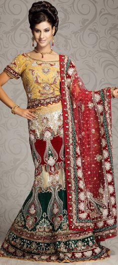 Machine embroidery work....perfect dress for bridal wedding.....  You can buy @ http://www.indianweddingsaree.com/product/65740.html