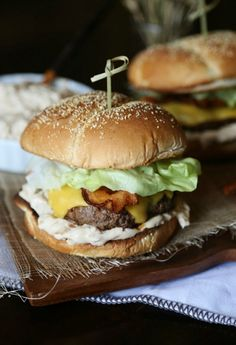 Cheddar Burgers With Balsamic Onions And Chipotle Ketchup Recipe ...