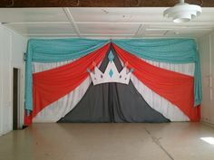 DIY Crown and stage draping for a community pageant. The Jewel Toned Life: Leona Valley Community Queens Pageant