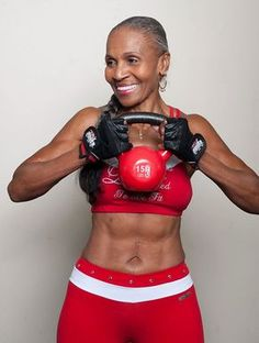Proof that you're never too old to exercise. This woman is 80!
