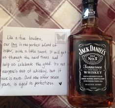 Will's 7 year anniversary gift, totally pin worthy : ) #jackdanielsno7