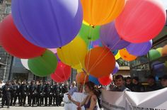 Gay Pride Activists Briefly March In Kyiv