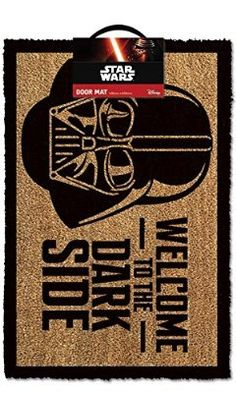 Buy Star Wars: Welcome To The Darkside - Doormat online and save! Star Wars: Welcome To The Darkside – Doormat An officially licensed doormat. The door mat measures and is made from coir with a rubber . Decoration Star Wars, Star Wars Decor, Star Ears, Star Wars Zimmer, Regalos Star Wars, Star Wars Dark, Star Wars Darth Vader, The Dark Side, Star Wars Room