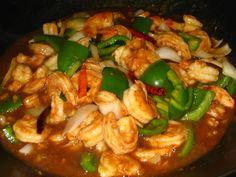 15 Mar 08 085 Shrimp And Garlic Sauce Recipe, Garlic Shrimp, Shrimp Recipes, Black Bean Sauce Recipe, Bean Recipes, Healthy Recipes, Hawaiian Dishes, Paste Recipe, Shrimp And Asparagus