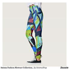 Shop Sxisma Fashion Abstract Leggings created by SxismaShop. Designer Leggings, Look Cool, Body Types, Dressmaking, Hand Sewing, Things That Bounce, Cool Designs, Suits, Costumes