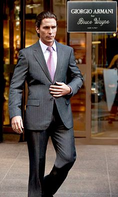 Christian Bale decked out in Armani