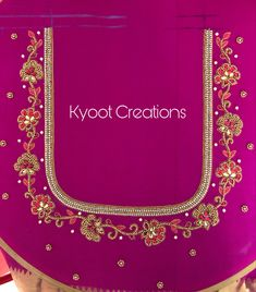 Embroidery Works, Learn Embroidery, Kutch Work Designs, Long Dress Design, Maggam Works, Neck Design, Blouse Designs, Designer Dresses, Bangles