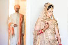 Golden Wedding Lehenga, Golden Lehenga, Bridal Lehenga, Bridal Outfit New York Weddings Golden Lehenga, Red Lehenga, Gold Outfit, Indian Bridal Lehenga, Indian Groom, Groom Wear, New York Wedding, Bridal Outfits, Wedding Attire