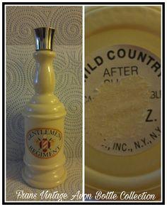 Vintage Avon Gentlemen's Regiment Wild Country After Shave Cologne White Milk Glass Bottle Decanter