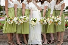 {Wedding Trends} : Bridesmaids in Skirts - how to styled, accessorized and mix-match | bellethemagazine.com