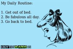 Daily fabulous routine quote via www.Facebook.com/WildWickedWomen