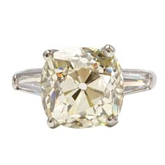 Old Miner Cut 5.78 Carat Diamond Ring | From a unique collection of vintage solitaire rings at http://www.1stdibs.com/jewelry/rings/solitaire-rings/